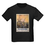 First to Fight for Democracy' Kids Dark T-Shirt