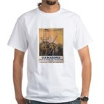 First to Fight for Democracy' White T-Shirt