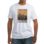 First to Fight for Democracy' Fitted T-Shirt