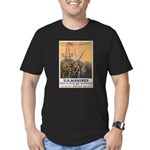 First to Fight for Democracy' Men's Fitted T-Shirt