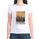 First to Fight for Democracy' Jr. Ringer T-Shirt