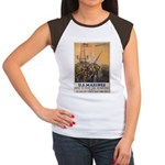 First to Fight for Democracy' Women's Cap Sleeve T