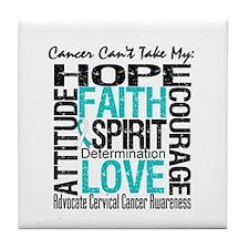 Cervical Cancer Can't Tile Coaster