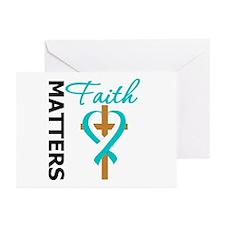 CervicalCancer FaithCross Greeting Cards (Pk of 20