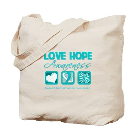 Cervical Cancer LoveHope Tote Bag