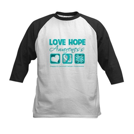 Cervical Cancer LoveHope Kids Baseball Jersey