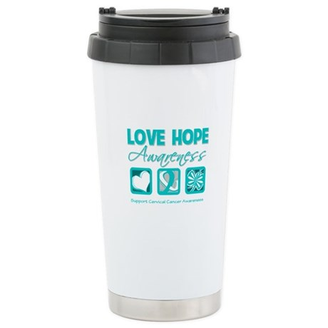 Cervical Cancer LoveHope Ceramic Travel Mug