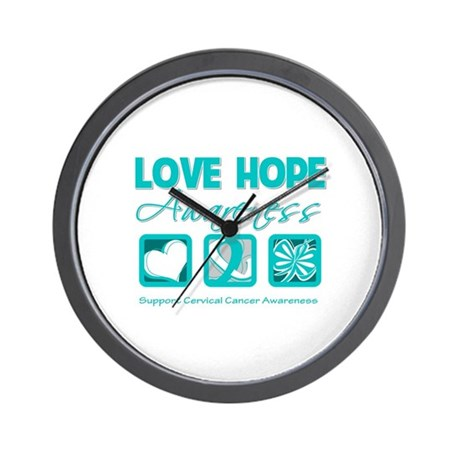Cervical Cancer LoveHope Wall Clock
