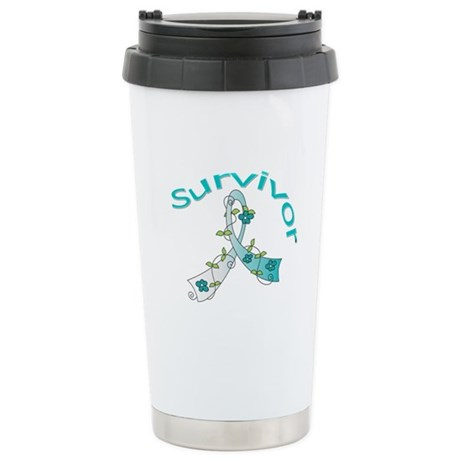 CervicalCancer Survivor Ceramic Travel Mug