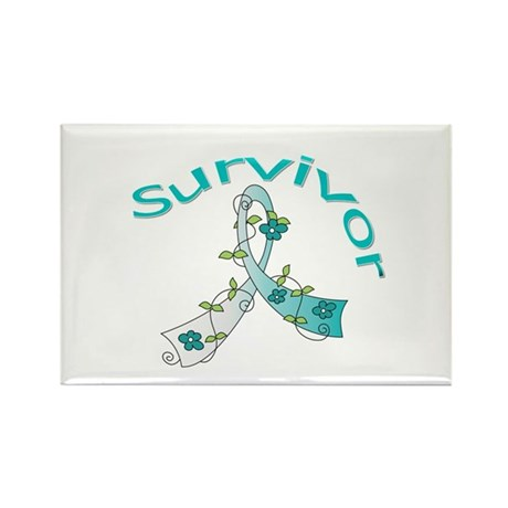 CervicalCancer Survivor Rectangle Magnet