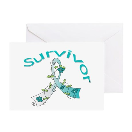 CervicalCancer Survivor Greeting Cards (Pk of 20)