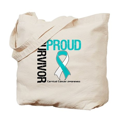 CervicalCancer ProudSurvivor Tote Bag