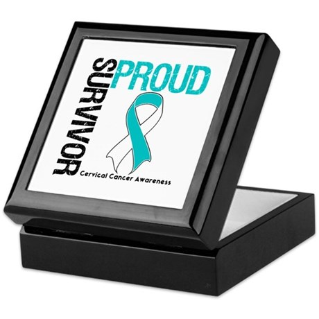 CervicalCancer ProudSurvivor Keepsake Box