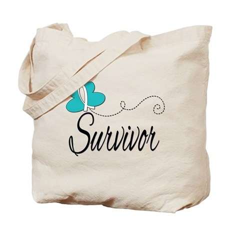 CervicalCancer ButterflyTrail Tote Bag