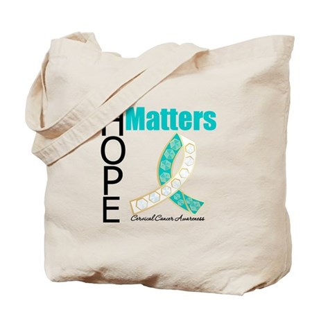 HopeMatters CervicalCancer Tote Bag