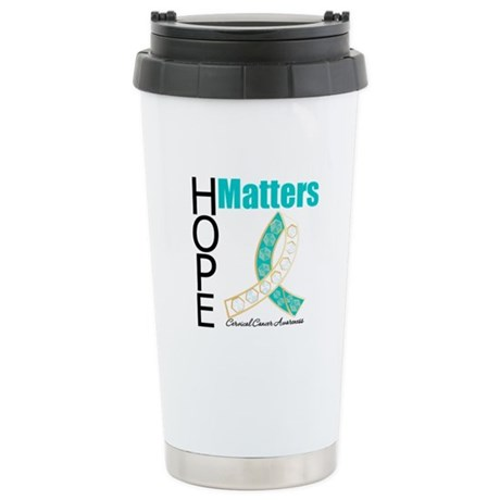 HopeMatters CervicalCancer Ceramic Travel Mug