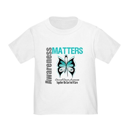 Cervical Cancer ButterflyArt Toddler T-Shir