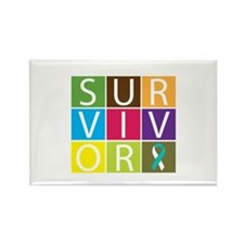 CervicalCancer SurvivorTile Rectangle Magnet (10 p
