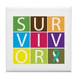 CervicalCancer SurvivorTile Tile Coaster