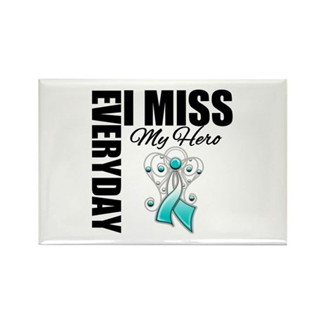 MissMyHero CervicalCancer Rectangle Magnet