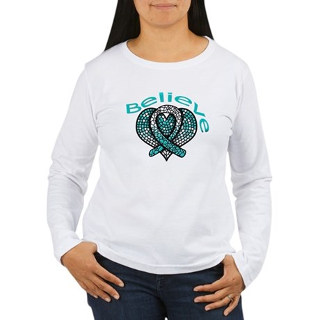 CervicalCancer Believe Women's Long Sleeve T-Shirt