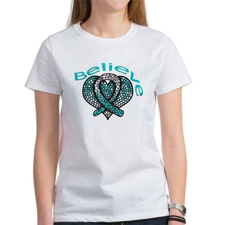 CervicalCancer Believe Women's T-Shirt