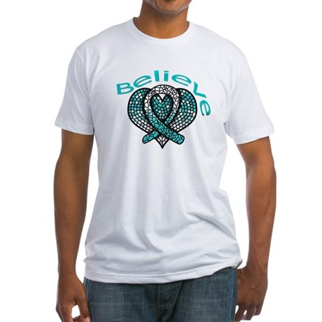 CervicalCancer Believe Fitted T-Shirt