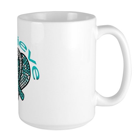 CervicalCancer Believe Large Mug