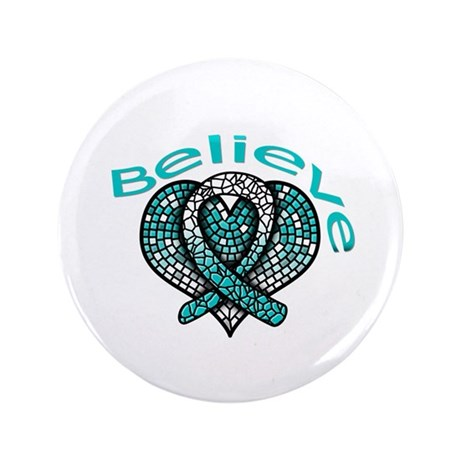 "CervicalCancer Believe 3.5"" Button (100 pack)"