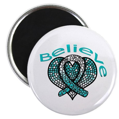 "CervicalCancer Believe 2.25"" Magnet (10 pack)"