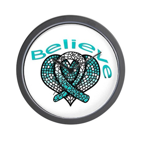 CervicalCancer Believe Wall Clock