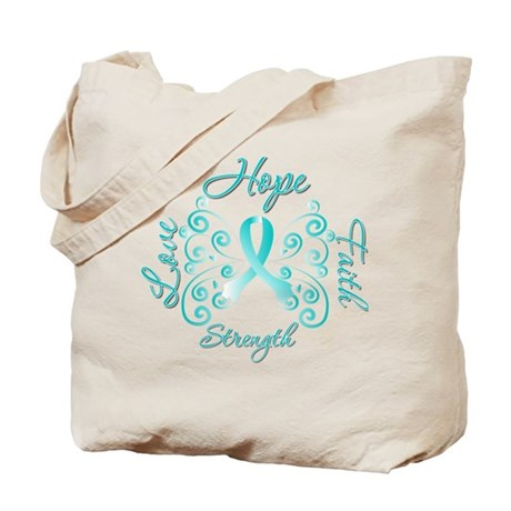 CervicalCancer HopeStrength Tote Bag