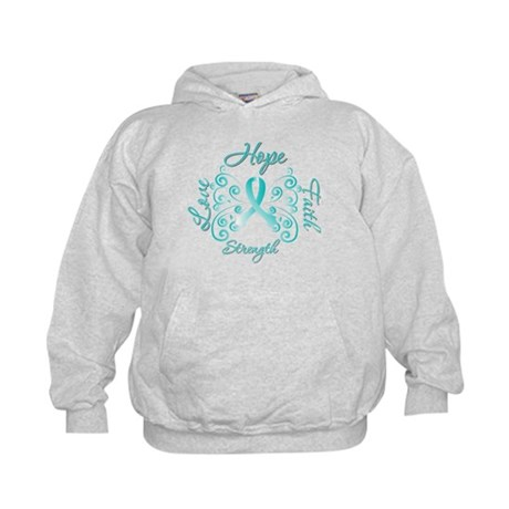 CervicalCancer HopeStrength Kids Hoodie