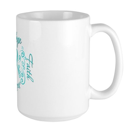 CervicalCancer HopeStrength Large Mug