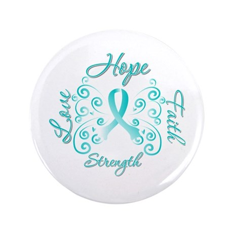 "CervicalCancer HopeStrength 3.5"" Button (100 pack)"