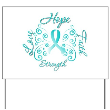 CervicalCancer HopeStrength Yard Sign