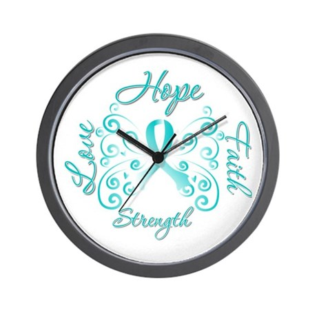 CervicalCancer HopeStrength Wall Clock