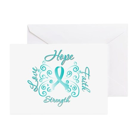 CervicalCancer HopeStrength Greeting Cards (Pk of
