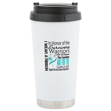 IWearARibbon CervicalCancer Ceramic Travel Mug