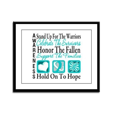CervicalCancer Advocacy Framed Panel Print