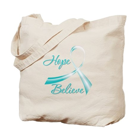 CervicalCancer HopeBelieve Tote Bag