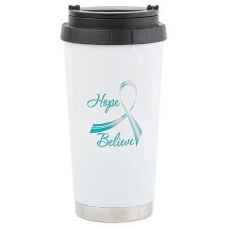 CervicalCancer HopeBelieve Ceramic Travel Mug