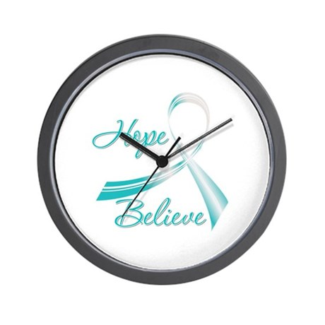 CervicalCancer HopeBelieve Wall Clock