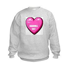 I Love My Ragdoll Cat Kids Sweatshirt