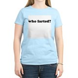 who farted? Women's Pink T-Shirt