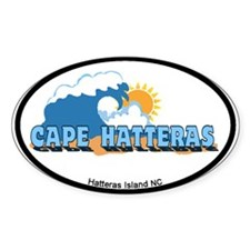 Cape Hatteras NC - Waves Design Decal