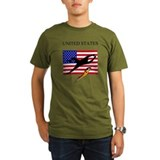 U.S.A. flag with soccer goali T-Shirt