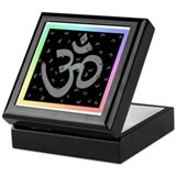 Om Butterfly Keepsake Box