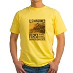 First to Fight in France Yellow T-Shirt