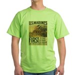First to Fight in France Green T-Shirt